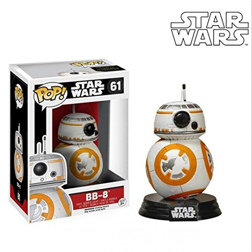 FunKo 6218 Pop Star Wars, BB-8, Bobble-Head Figures, 3.75-In