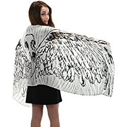 elope Black Feather Wings Lightweight Scarf
