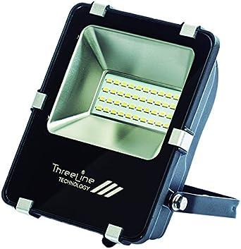 Threeline PRG Proyector Foco LED, 20 W, Blanco Cálido: Amazon.es ...