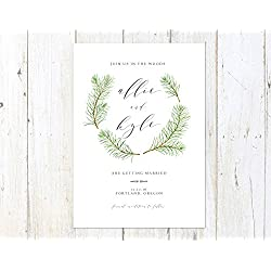 Pine Trees Save the Date, Forest Save the Date, Outdoorsy Save the Date