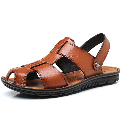 Fisherman SLJ Summer Sandal Leather Casual Yellow Sandals Men's qOOZwUnWH