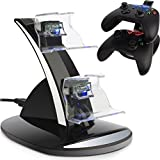 Xbox One Docking Station, CBSKY® Xbox One, Xbox One S Charging Dock, Dual Controller Charger Kit for Xbox One, One S Console w LED Light, Black