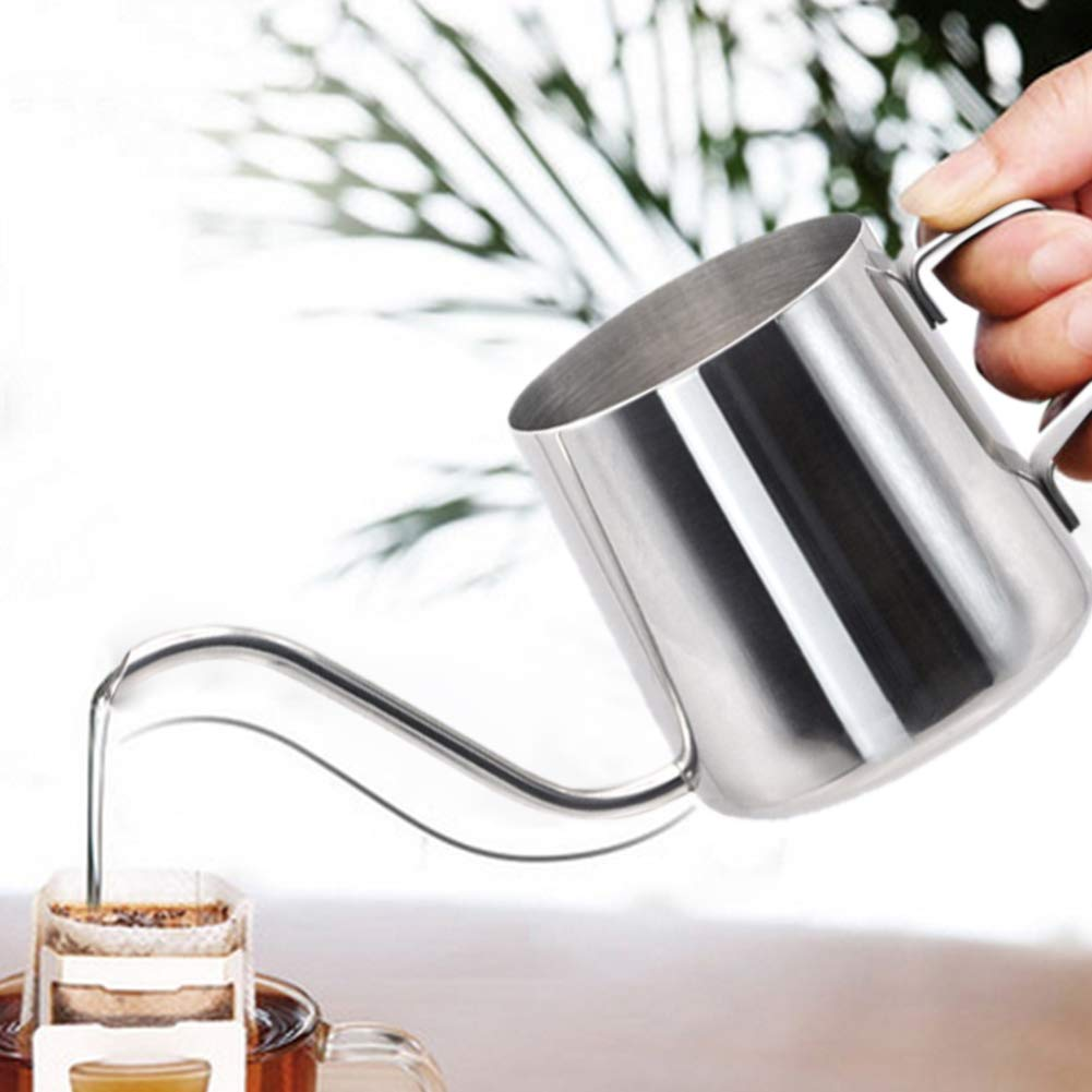 Portable Coffee Tea case 250ML Long Narrow Spout 304 Stainless Steel Hand Drip Coffee Pot with Hanging Ear, Portable Coffee Tea case (Color : Color1)