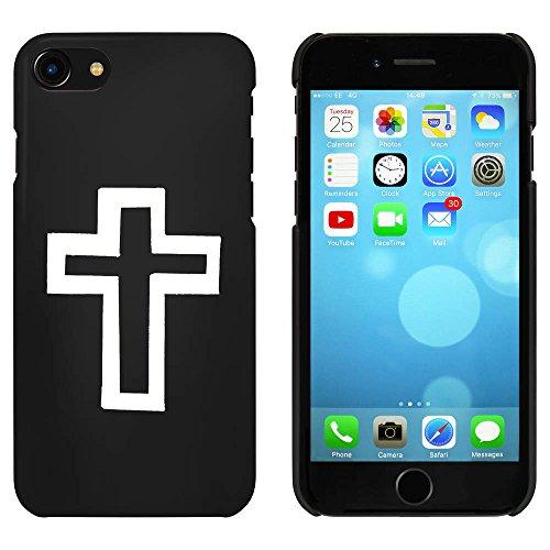 Noir 'Croix' étui / housse pour iPhone 7 (MC00057919)