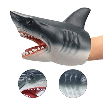 ZY Children's Hand Puppet Toys Soft and Comfortable Rubber Simulation Shark Gloves Dolls for Children's Interactive Games Role Play Interesting Toy: Home & Kitchen