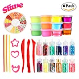 Fluffy Slime Kit for Girls Party Favors Magic Crystal Slime Putty Toy Slime Supplies for Kids, Students,Birthday Gifts and Sensory Play Stress Relief Toy No Borax for Children and Adults 12 Pack
