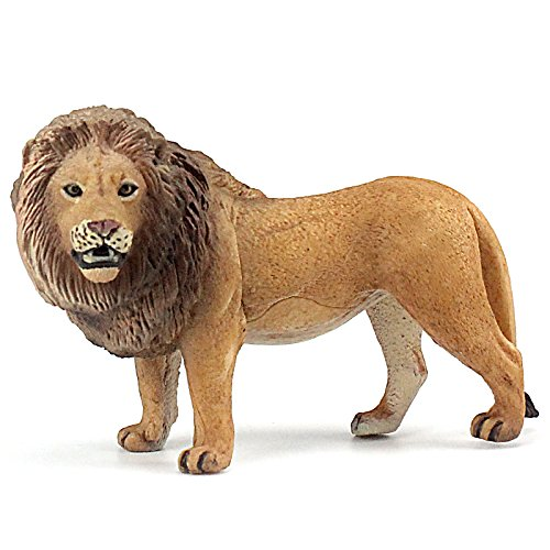 FUNSHOWCASE African Jungle Animals Male Africa Lion Toy Figure Realistic Plastic Figurine Height 2.6-inch