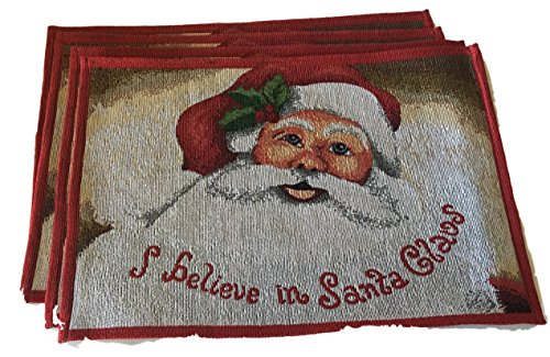 holiday-believe-in-santa-claus-tapestry-placemat-13in-x-19-in-set-of-4