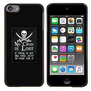 Planetar® ( No causa está perdida pirata movimiento de embarcaciones ) Apple iPod Touch 6 6th Touch6 Fundas Cover Cubre Hard Case Cover