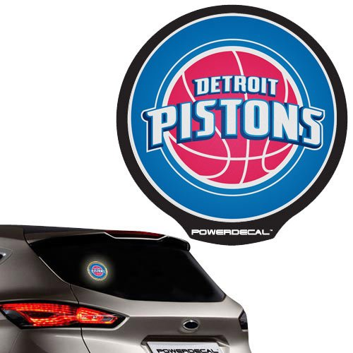 NBA Detroit Pistons Backlit LED Motion Sensing Powerdecal by Football Fanatics