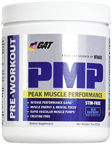 GAT Pmp Stimulant Free Supplement, Blue Raspberry, 9 Ounce