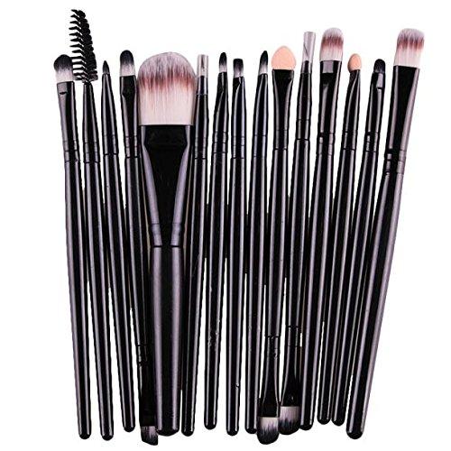 Super Bally 15 pcs Premium Cosmetic Makeup Brush Set for Foundation Blending Blush Concealer Eye Shadow, Synthetic Fiber, Lip Brush Makeup Brushes Tool