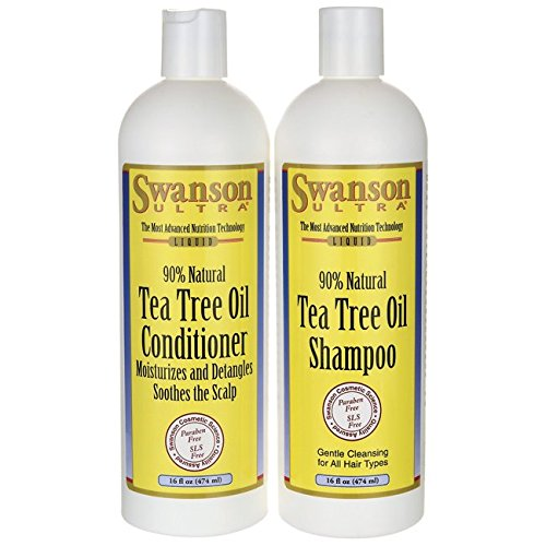 Swanson Tea Tree Oil Shampoo & Conditioner Combo 16 fl oz (1 pt) (473 ml) each (Swanson Products)