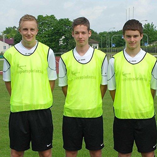 Leibchen für Erwachsene, Farbe: neongelb, für Teamsportbedarf - Fußballtraining