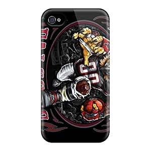 JasonPelletier Iphone 4/4s Great Hard Phone Case Provide Private Custom HD Atlanta Falcons Image [Mof15210HRxb]