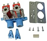 WH13X10024 Water Valve - 120 VAC Washer Inlet Valve Kit - Will work with Whirlpool, Maytag, Alliance, Electrolux, GE, Kenmore, Amana, Admiral, Frigidaire Washers - Easy to Install ( Includes Valve, Bracket, and Hardware)