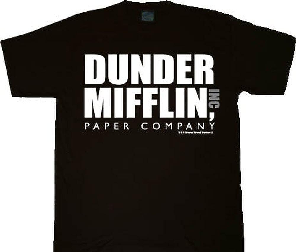 The Office Dunder Mifflin INC Paper Company Logo Black T-shirt Tee, Medium