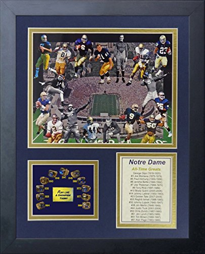 Notre Dame Fighting Irish All Time Greats Collectible | Framed Photo Collage Wall Art Decor - 12