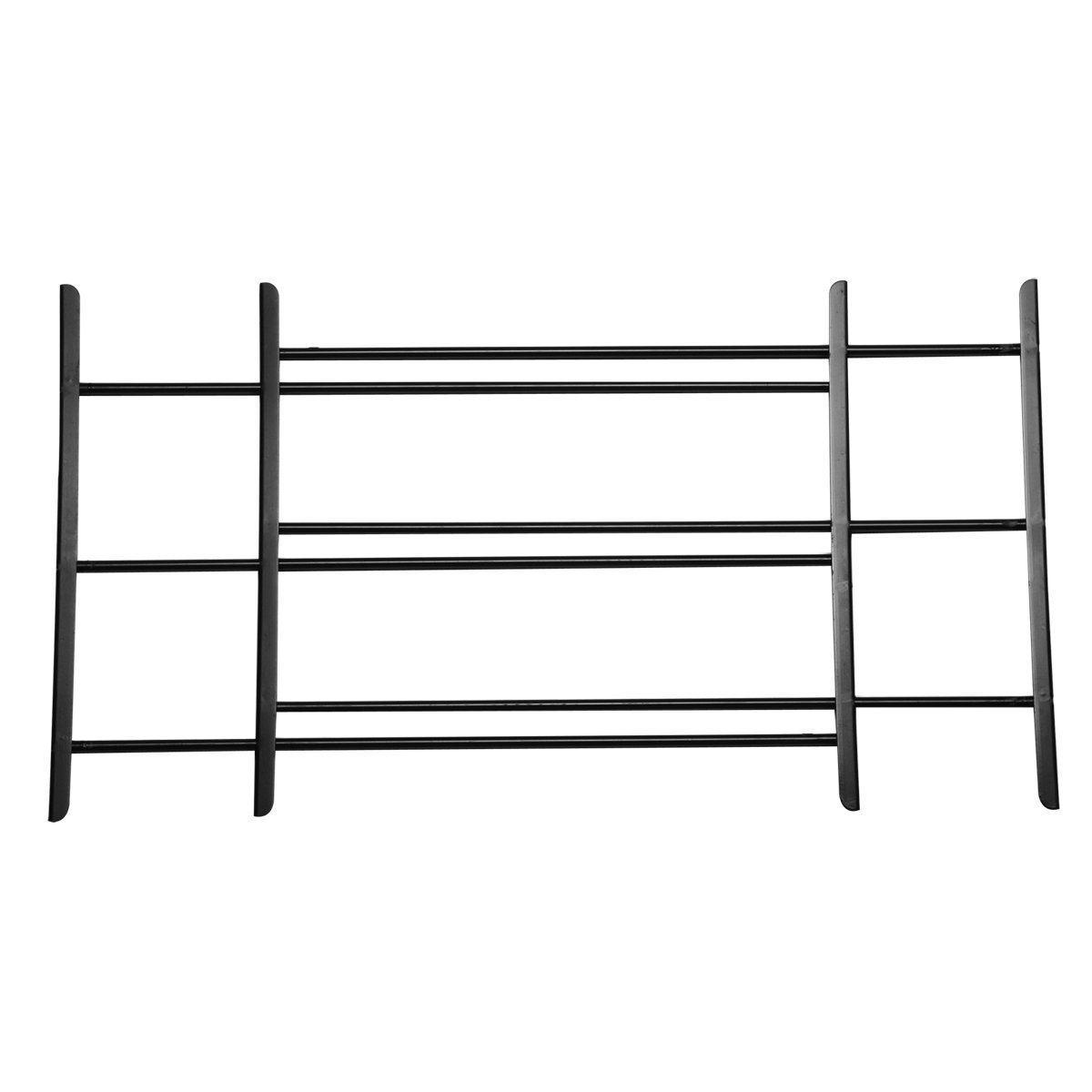 Knape & Vogt John Sterling Non-Opening Style 3-Bar Child Safety and Window Guard, Black, 1123-DB