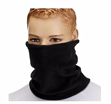 bef3514a416b YiZYiF Unisexe Femmes Hommes Bandanas Multifonctions Polaire Tour de Cou  Echarpe Tube Masque Visage Bandeau Noir