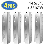 charbroil grill diffuser - XHome XH919 Heat Plate Shield for Charbroil and Kenmore Grill Parts, 4 Pack Stainless Steel Heat Tent, Burner Cover, Replacement for Charbroil 463420511, Kenmore 463420507 (14 5/8