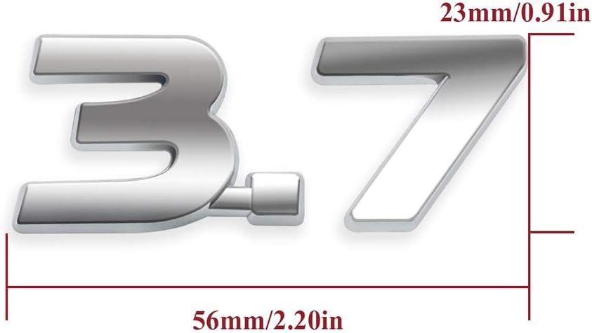 ipl 3,7 s Abzeichen Buchstaben Aufkleber Metall 3D Emblem Trim dekor k/örper Auto Styling Gnnlor F/ür Infiniti q50 q50l g37 g25 qx70 fx35 q70 qx80