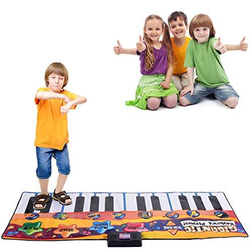 Costzon 24 Keys Piano Mat Kids Keyboard Playmat Dance