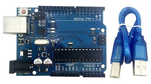 LANDZO UNO R3 Microcontroller Board with USB for Arduino (UNO R3)