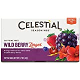 Celestial Seasonings Wild Berry Zinger Herbal Tea, 20 Count (Pack of 6)