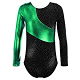 TFJH E Sparkle Gymnastics Athletic Leotard for Little Girls Practice Outfits 140 Green 120