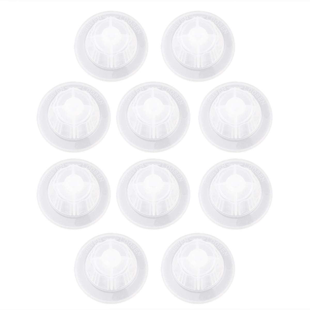 CHICTRY Plastic Fan Blade Screw Fixing Parts Nut Covers for Household Standing Pedestal Fan Table Fanner General Accessories 10Pcs One Size