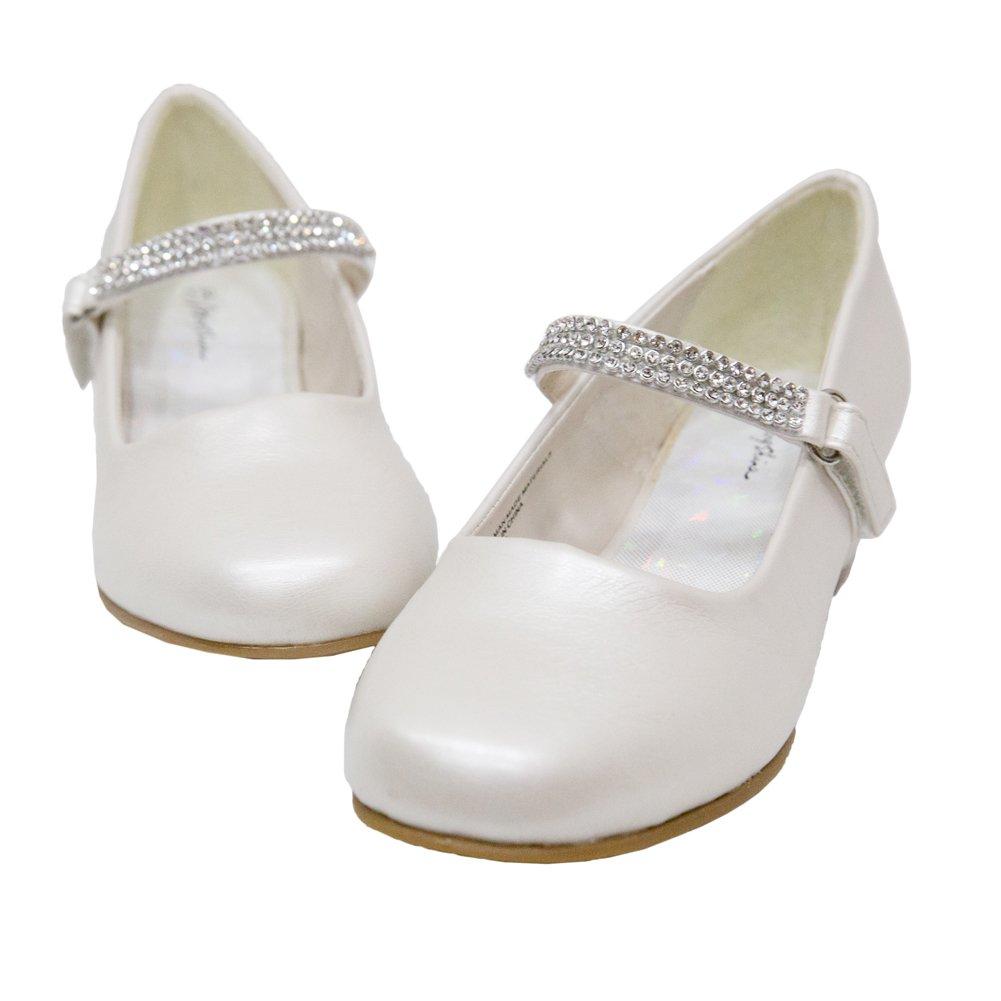 Adingshine Big Girls Dress Heels with Rhinestones Strap