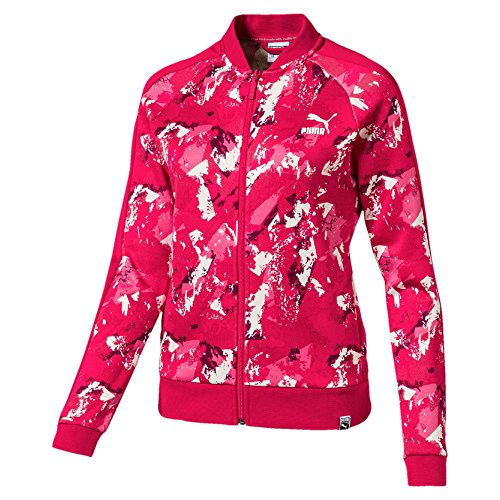 PUMA Women's AOP Archive T7 Track Jacket Love Potion - Woven Womens Puma Jacket