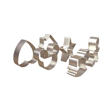 6-PCS aleación de aluminio para galletas molde para galletas molde para hornear molde corte