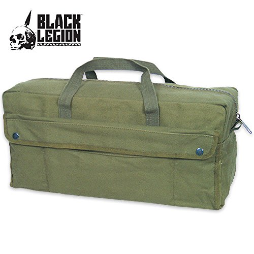 Heavy Duty Canvas Bags (Fox Outdoor Products Jumbo Mechanic's Tool Bag with Brass Zipper, Olive Drab)