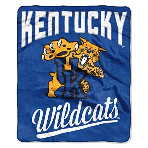 The Northwest Company NCAA Kentucky Wildcats Unisex Alumniraschel Blanket, Team Colors, 50x60 Inches ()