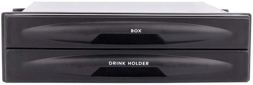 Car Storage Box Car Interior Accessories Qiilu Car Cup Holder Organizer Storage Box Universal Car auto Double Din Radio Pocket Drink Cup Holder