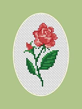 Cross stitch kit Luca-S Communication Simple cross stitch kit for beginner with ladybug and flower