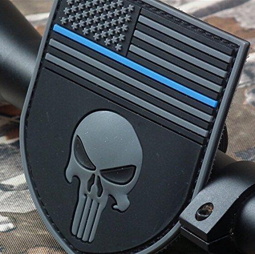The thin blue line Devgru SealTeam Punisher american flag 3D PVC Patch