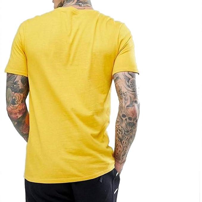 319b5d367816 Nike Club Embro Futura T-Shirt White University Red L Yellow  Amazon.co.uk   Clothing