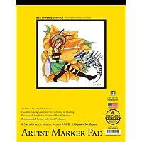 Bee Paper Company 926T30-8511 Almohadilla marcadora a prueba de sangrado, 8-1 /2 pulgadas por 11 pulgadas