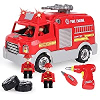 Kaekid Take Apart Toy, Learning Car Toy for Boys & Girls, Build Your Own Car Toy Fire Truck,Educational Playset with…