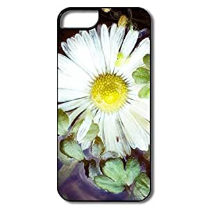 IPhone 5 5S Cases, Flower Water White/black Covers For IPhone 5/5S