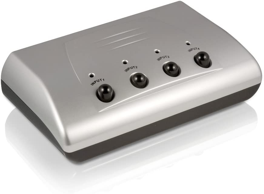 Philips SWS2325W//17 Manual High Definition Audio//Video Selector Silver Discontinued by Manufacturer