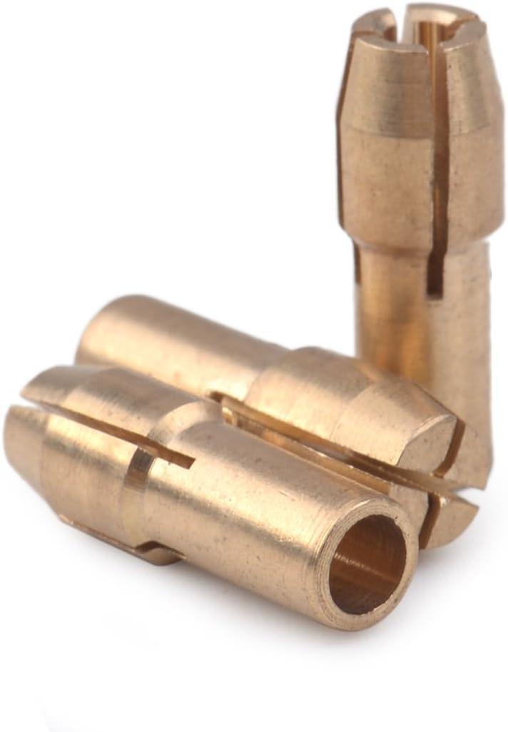 LETAOSK Adapt/é /à la perceuse rotative en laiton Dremel Mandrin /à pince de serrage 0.5-3.2mm 4.8mm Queue 10Pcs