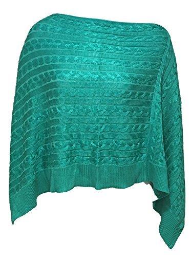 Lauren Ralph Lauren Cable-Knit Poncho Sweater (One Size Plus, Tropic (Ralph Lauren Poncho)