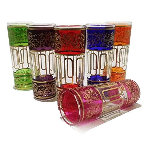 TUYYA MOROCCAN SHOOTER TEA GLASSES NEW BELLAR - set of 6
