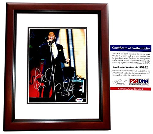 Eric Benet Signed - Autographed R&B Soul Singer in Concert 8x10 Photo with PSA/DNA Certificate of Authenticity (COA) MAHOGANY CUSTOM FRAME from PSA