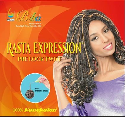Biba Rasta Expression Pre Lock Twist (#1B(Off Black))