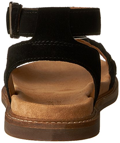 Corsio Flache schwarzem Damen Sandalen Amelia 7 für Clarks Wildleder aus ESPxdqnSCw